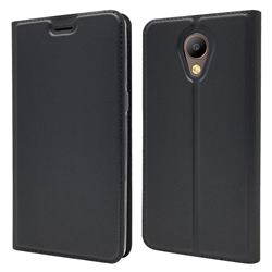 Ultra Slim Card Magnetic Automatic Suction Leather Wallet Case for Elephone P8 - Star Grey