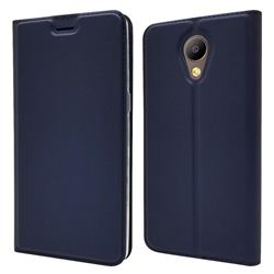 Ultra Slim Card Magnetic Automatic Suction Leather Wallet Case for Elephone P8 - Royal Blue