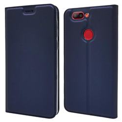 Ultra Slim Card Magnetic Automatic Suction Leather Wallet Case for Elephone P8 Mini - Royal Blue