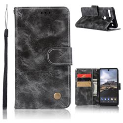 Luxury Retro Leather Wallet Case for Essential PH-1 - Gray