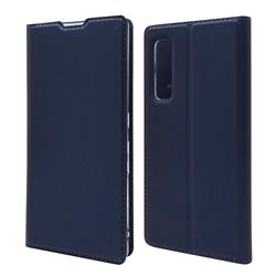 Ultra Slim Card Magnetic Automatic Suction Leather Wallet Case for Fujitsu Arrows NX9 F-52A - Royal Blue