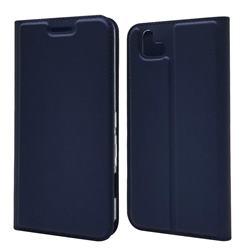 Ultra Slim Card Magnetic Automatic Suction Leather Wallet Case for FUJITSU Arrows U SoftBank - Royal Blue