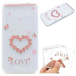 Heart Garland Super Clear Soft TPU Back Cover for Samsung Galaxy Core Prime G360