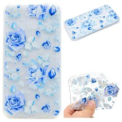 Ice Rose Super Clear Soft TPU Back Cover for Samsung Galaxy Core Prime G360