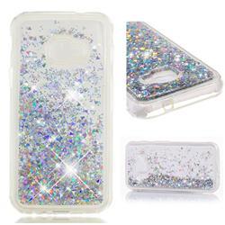 Dynamic Liquid Glitter Quicksand Sequins TPU Phone Case for Samsung Galaxy Xcover 4 G390F - Silver