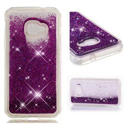 Dynamic Liquid Glitter Quicksand Sequins TPU Phone Case for Samsung Galaxy Xcover 4 G390F - Purple