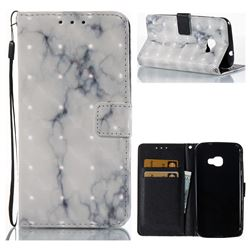 White Gray Marble 3D Painted Leather Wallet Case for Samsung Galaxy Xcover 4 G390F