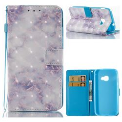 Green Gray Marble 3D Painted Leather Wallet Case for Samsung Galaxy Xcover 4 G390F