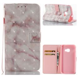 Beige Marble 3D Painted Leather Wallet Case for Samsung Galaxy Xcover 4 G390F