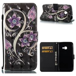 Peacock Flower 3D Painted Leather Wallet Case for Samsung Galaxy Xcover 4 G390F
