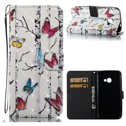 Colored Butterflies 3D Painted Leather Wallet Case for Samsung Galaxy Xcover 4 G390F