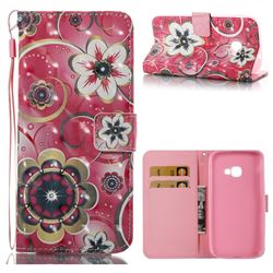 Tulip Flower 3D Painted Leather Wallet Case for Samsung Galaxy Xcover 4 G390F
