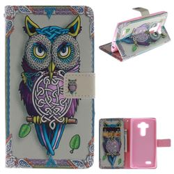 Weave Owl PU Leather Wallet Case for LG G4 H810 VS999 F500