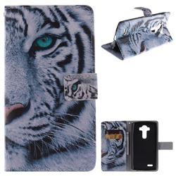 White Tiger PU Leather Wallet Case for LG G4 H810 VS999 F500