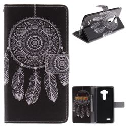 Black Wind Chimes PU Leather Wallet Case for LG G4 H810 VS999 F500