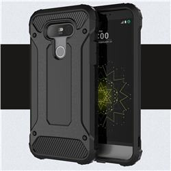 King Kong Armor Premium Shockproof Dual Layer Rugged Hard Cover for LG G5 - Black Gold