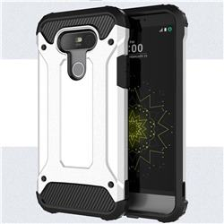 King Kong Armor Premium Shockproof Dual Layer Rugged Hard Cover for LG G5 - White