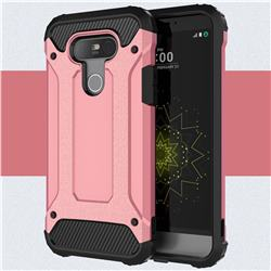 King Kong Armor Premium Shockproof Dual Layer Rugged Hard Cover for LG G5 - Rose Gold