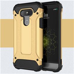 King Kong Armor Premium Shockproof Dual Layer Rugged Hard Cover for LG G5 - Champagne Gold