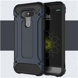 King Kong Armor Premium Shockproof Dual Layer Rugged Hard Cover for LG G5 - Navy