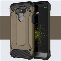 King Kong Armor Premium Shockproof Dual Layer Rugged Hard Cover for LG G5 - Bronze