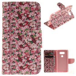 Intensive Floral PU Leather Wallet Case for LG G5