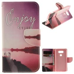 Seaside Scenery PU Leather Wallet Case for LG G5