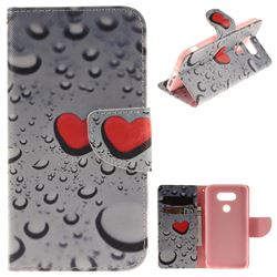 Heart Raindrop PU Leather Wallet Case for LG G5