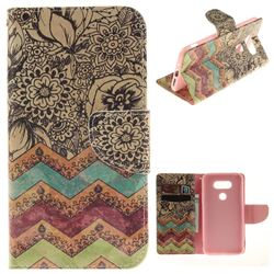 Wave Flower PU Leather Wallet Case for LG G5