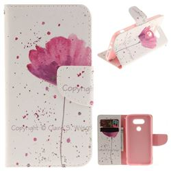 Purple Orchid PU Leather Wallet Case for LG G5