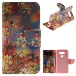 Colored Flowers PU Leather Wallet Case for LG G5