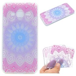 Colored Mandala Super Clear Soft TPU Back Cover for Samsung Galaxy Grand Prime G530
