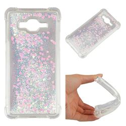 Dynamic Liquid Glitter Sand Quicksand Star TPU Case for Samsung Galaxy Grand Prime G530 - Pink