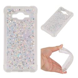 Dynamic Liquid Glitter Sand Quicksand Star TPU Case for Samsung Galaxy Grand Prime G530 - Silver