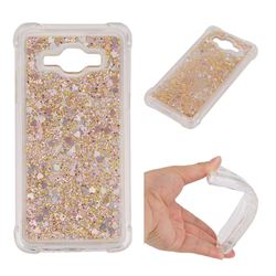 Dynamic Liquid Glitter Sand Quicksand Star TPU Case for Samsung Galaxy Grand Prime G530 - Diamond Gold