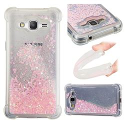 Dynamic Liquid Glitter Sand Quicksand TPU Case for Samsung Galaxy Grand Prime G530 - Silver Powder Star