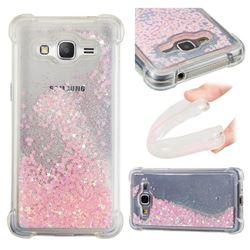 Dynamic Liquid Glitter Sand Quicksand TPU Case for Samsung Galaxy Grand Prime G530 - Silver Powder Star