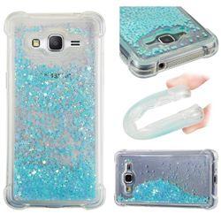 Dynamic Liquid Glitter Sand Quicksand TPU Case for Samsung Galaxy Grand Prime G530 - Silver Blue Star