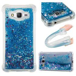 Dynamic Liquid Glitter Sand Quicksand TPU Case for Samsung Galaxy Grand Prime G530 - Blue Love Heart