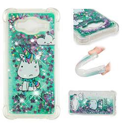 Tiny Unicorn Dynamic Liquid Glitter Sand Quicksand Star TPU Case for Samsung Galaxy Grand Prime G530
