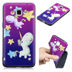 Pony 3D Embossed Relief Black TPU Cell Phone Back Cover for Samsung Galaxy Grand Prime G530