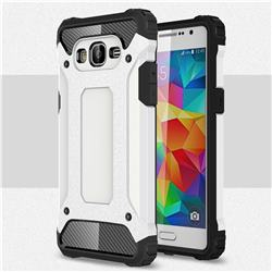 King Kong Armor Premium Shockproof Dual Layer Rugged Hard Cover for Samsung Galaxy Grand Prime G530 - White
