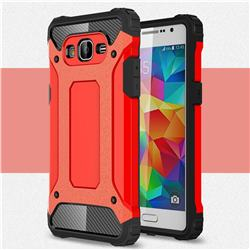 King Kong Armor Premium Shockproof Dual Layer Rugged Hard Cover for Samsung Galaxy Grand Prime G530 - Big Red
