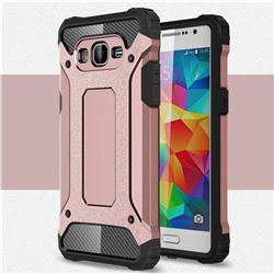 King Kong Armor Premium Shockproof Dual Layer Rugged Hard Cover for Samsung Galaxy Grand Prime G530 - Rose Gold