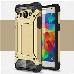 King Kong Armor Premium Shockproof Dual Layer Rugged Hard Cover for Samsung Galaxy Grand Prime G530 - Champagne Gold