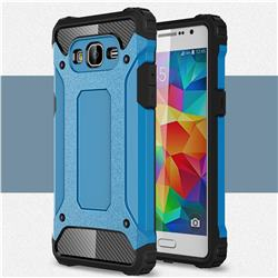 King Kong Armor Premium Shockproof Dual Layer Rugged Hard Cover for Samsung Galaxy Grand Prime G530 - Sky Blue