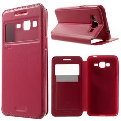 Roar Korea Noble View Leather Flip Cover for Samsung Galaxy Grand Prime G530 G530H - Rose