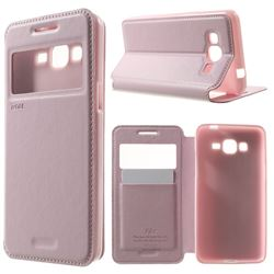 Roar Korea Noble View Leather Flip Cover for Samsung Galaxy Grand Prime G530 G530H - Pink