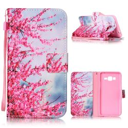 Plum Flower Leather Wallet Phone Case for Samsung Grand Prime G530