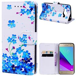 Star Flower 3D Relief Oil PU Leather Wallet Case for Samsung Galaxy Grand Prime G530
